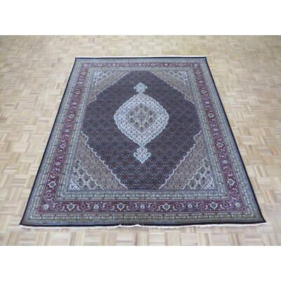 One-of-a-Kind Padro Mahi Hand-Knotted Black Area Rug