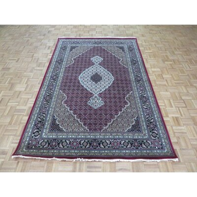 One-of-a-Kind Raiden Hand-Knotted Cotton Red/Black Area Rug Rug Size: Rectangle 83 x 118