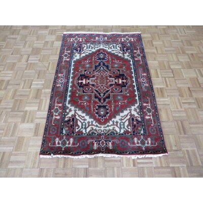 One-of-a-Kind Pellegrino Serapi Heriz Hand-Knotted Wool Brick Red Area Rug