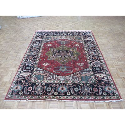 One-of-a-Kind Padro Serapi Heriz Hand-Knotted Wool Rust Red Area Rug