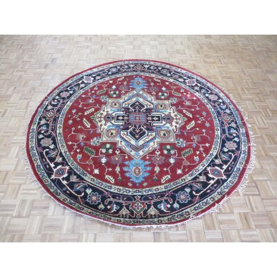One-of-a-Kind Pellegrino Serapi Heriz Hand-Knotted Rust Red Area Rug