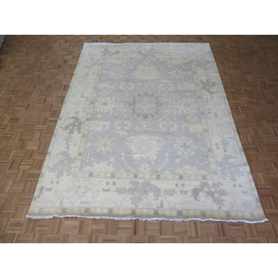 One-of-a-Kind Pellegrino Oushak Ushak Hand-Knotted Wool Soft Blue Area Rug