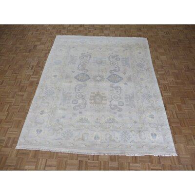 One-of-a-Kind Pellegrino Oushak Ushak Hand-Knotted Wool Beige Area Rug