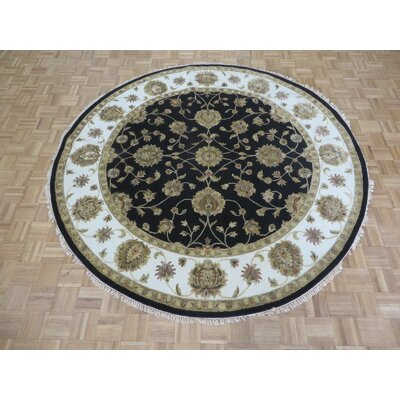 One-of-a-Kind Josephson Hand-Knotted Wool Black Area Rug Rug Size: Round 83 x 82