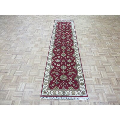 One-of-a-Kind Josephson Hand-Knotted Wool Red Area Rug