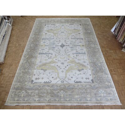 One-of-a-Kind Pellegrino Turkish Oushak Hand-Knotted Wool Ivory/Brown Area Rug