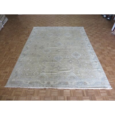 One-of-a-Kind Josephson Turkish Oushak Hand-Knotted Wool Sand Area Rug