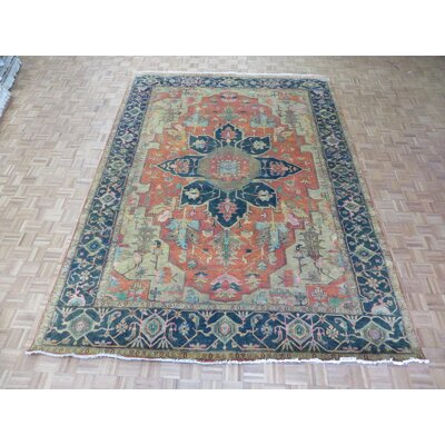 One-of-a-Kind Padro Serapi Heriz Hand-Knotted Rust Orange Area Rug