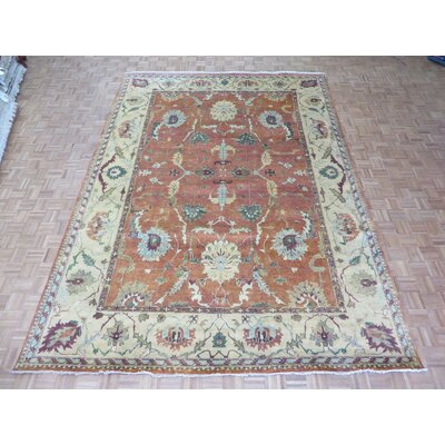 One-of-a-Kind Josephson Antiqued Serapi Heriz Hand-Knotted Rust Orange Area Rug