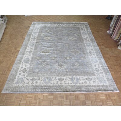 One-of-a-Kind Josephson Oushak Hand-Knotted Wool Gray Area Rug