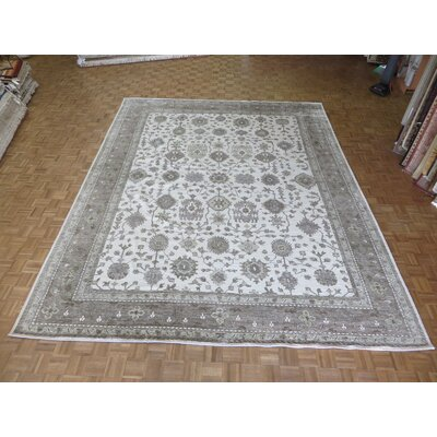 One-of-a-Kind Josephson Oushak Hand-Knotted Wool Ivory/Gray Area Rug