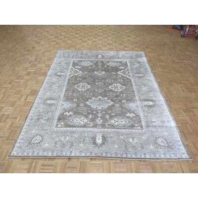 One-of-a-Kind Rhyne Oushak Hand-Knotted Wool Brown/Gray Area Rug Rug Size: Rectangle 710 x 98