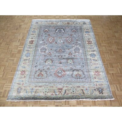 One-of-a-Kind Josephson Oushak Hand-Knotted Silk Gray/Blue Area Rug