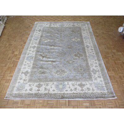 One-of-a-Kind Josephson Oushak Hand-Knotted Silk Sky Blue Area Rug