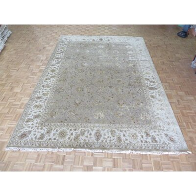One-of-a-Kind Josephson Hand-Knotted Silk Taupe Area Rug