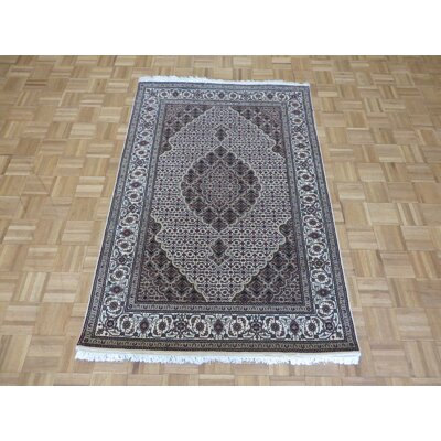 One-of-a-Kind Raiden Hand-Knotted Silk Ivory Area Rug