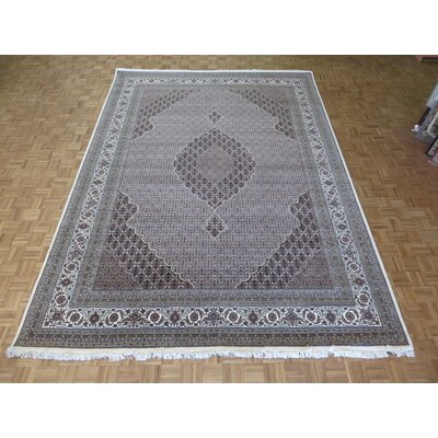 One-of-a-Kind Raiden Hand-Knotted Wool Ivory Area Rug Rug Size: Rectangle 102 x 1311
