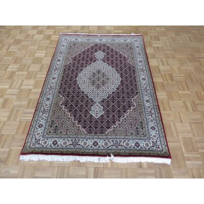One-of-a-Kind Raiden Hand-Knotted Wool Red Area Rug Rug Size: Rectangle 5 x 7