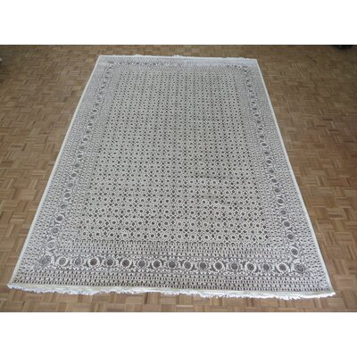 One-of-a-Kind Josephson Herati Hand-Knotted Wool Ivory Area Rug Rug Size: Rectangle 91 x 12