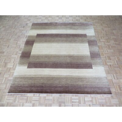 One-of-a-Kind Rainey Hand-Knotted Wool Brown/Beige Area Rug