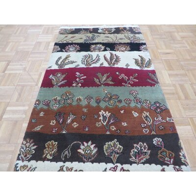 One-of-a-Kind Railey Hand-Knotted Wool Red/Green Area Rug Rug Size: Rectangle 3 x 411