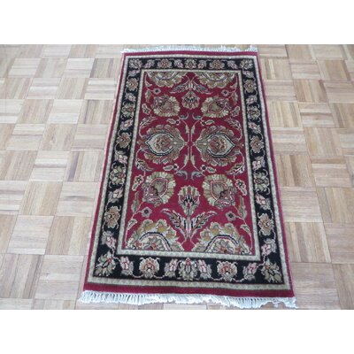 One-of-a-Kind Rhyne Hand-Knotted Wool Burgundy/Black Area Rug