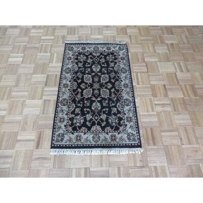 One-of-a-Kind Railey Hand-Knotted Wool Black Area Rug Rug Size: Rectangle 211 x 52