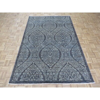 One-of-a-Kind Josephson Peshawar Oushak Hand-Knotted Wool Charcoal Gray Area Rug