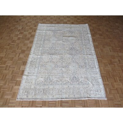 One-of-a-Kind Padillo Persian Hand-Knotted Pink Brown Area Rug