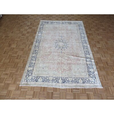 One-of-a-Kind Padillo Persian Hand-Knotted Wool Pink Area Rug