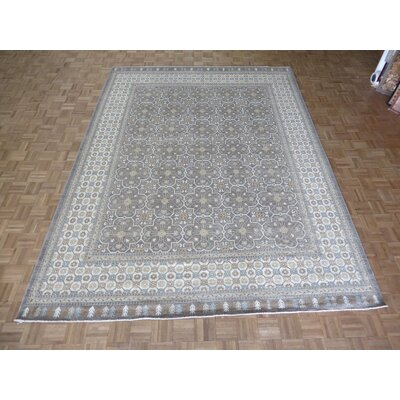 One-of-a-Kind Railsback Oushak Hand-Knotted Wool Gray Area Rug