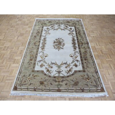 One-of-a-Kind Rainer Hand-Knotted Wool Ivory Area Rug