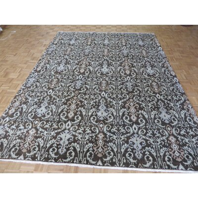 One-of-a-Kind Railsback Ikat Hand-Knotted Brown Area Rug Rug Size: Rectangle 78 x 911