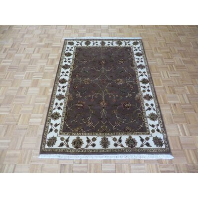 One-of-a-Kind Padro Hand-Knotted Wool Light Brown Area Rug