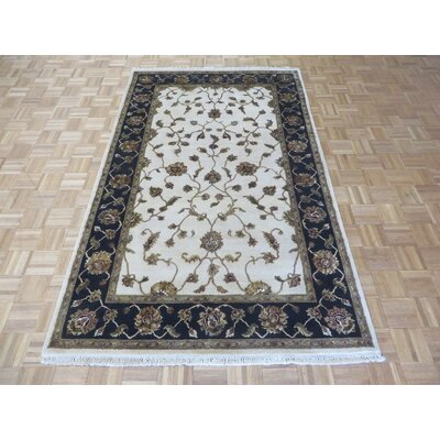 One-of-a-Kind Padro Hand-Knotted Wool Ivory/Black Area Rug