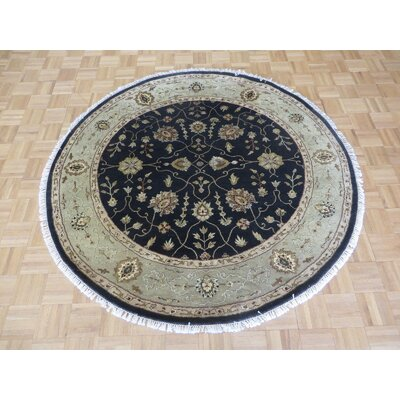 One-of-a-Kind Padro Hand-Knotted Wool Black Area Rug