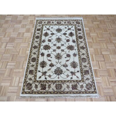 One-of-a-Kind Padro Hand-Knotted Wool Ivory Area Rug