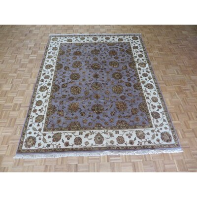 One-of-a-Kind Josephson Hand-Knotted Rayon from Bamboo Silk Purple Area Rug