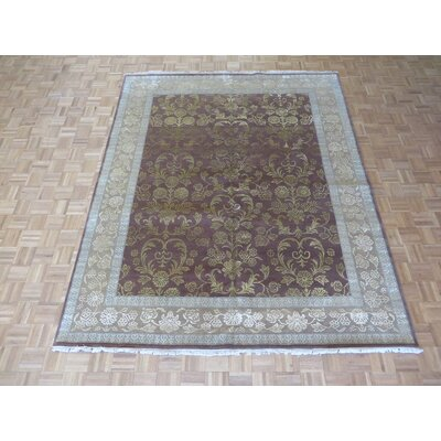 One-of-a-Kind Rhyne Hand-Knotted Wool Brown Area Rug