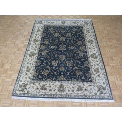 One-of-a-Kind Rhyne Hand-Knotted Wool Charcoal Area Rug