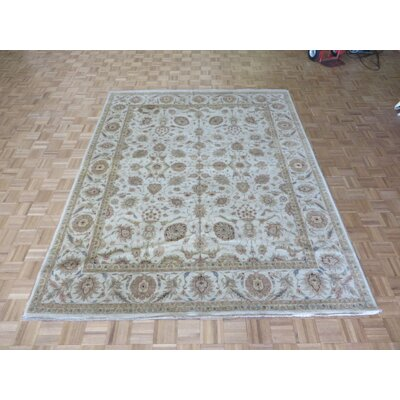 One-of-a-Kind Rhyne Peshawar Oushak Hand-Knotted Wool Beige Area Rug