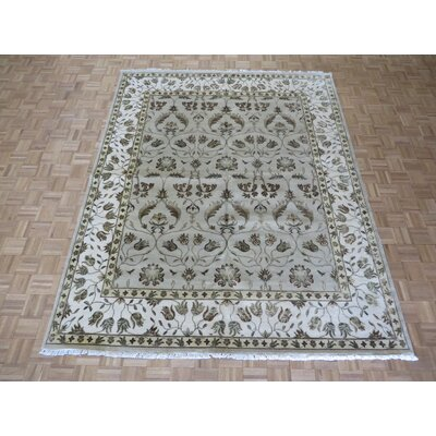 One-of-a-Kind Rhyne Hand-Knotted Wool Beige Area Rug