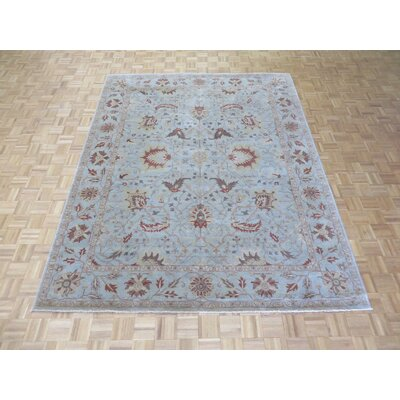 One-of-a-Kind Railsback Oushak Hand-Knotted Wool Sky Blue Area Rug Rug Size: Rectangle 81 x 910