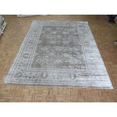 One-of-a-Kind Josephson Oushak Hand-Knotted Brown/Gray Area Rug Rug Size: Rectangle 98 x 139