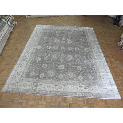 One-of-a-Kind Rhyne Oushak Hand-Knotted Gray Area Rug Rug Size: Rectangle 1110 x 15