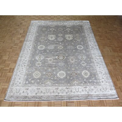 One-of-a-Kind Josephson Oushak Hand-Knotted Silver/Gray Area Rug Rug Size: Rectangle 99 x 139