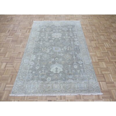 One-of-a-Kind Josephson Turkish Oushak Hand-Knotted Wool Gray Area Rug