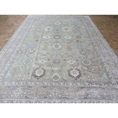 One-of-a-Kind Emerystone Oushak Hand-Knotted Wool Sand Area Rug Rug Size: Rectangle 8 x 101