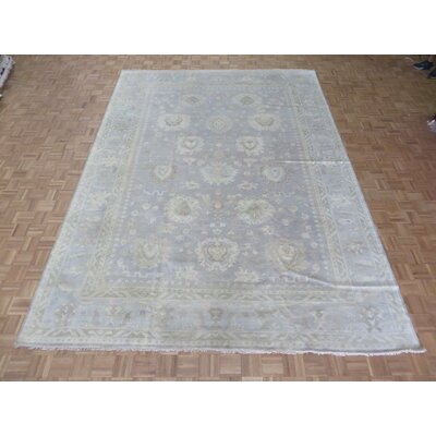 One-of-a-Kind Emerystone Hand-Knotted Wool Silver/Blue Area Rug Rug Size: Rectangle 911 x 139