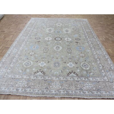 One-of-a-Kind Emerystone Oushak Hand-Knotted Wool Sand Area Rug Rug Size: Rectangle 810 x 1110